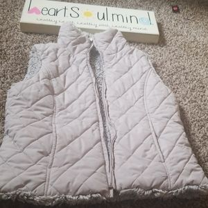WEATHERPROOF reversible faux fur vest